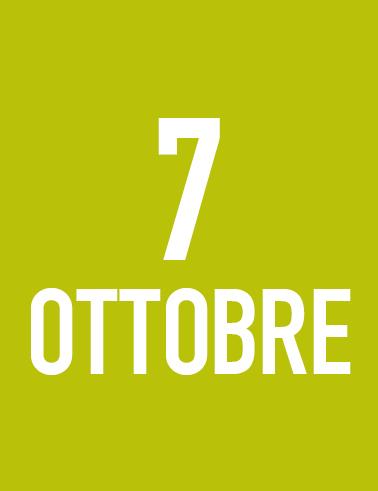 Giovedì 7 Ottobre