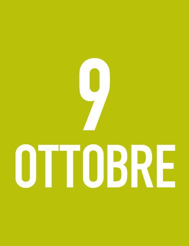 Sabato 9 Ottobre